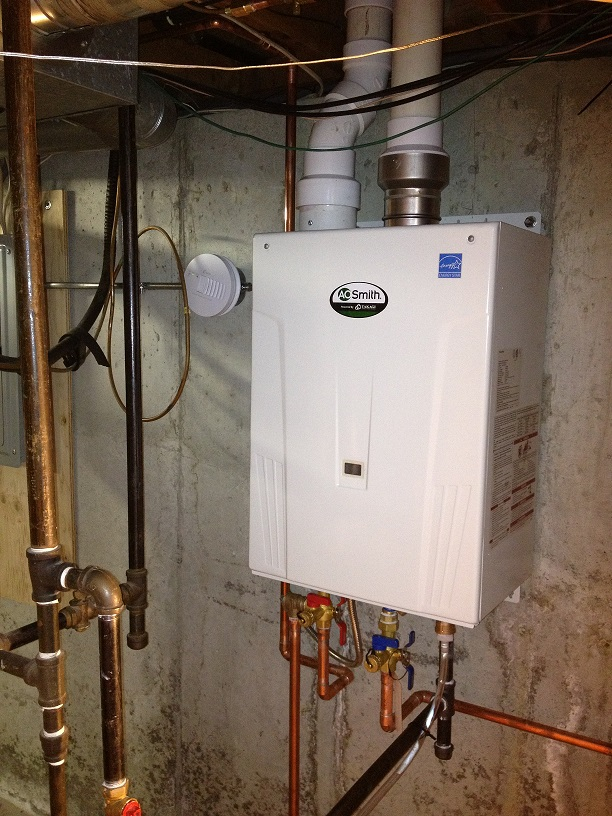 On Demand Hot Water : New ao smith on demand hot water system installed in