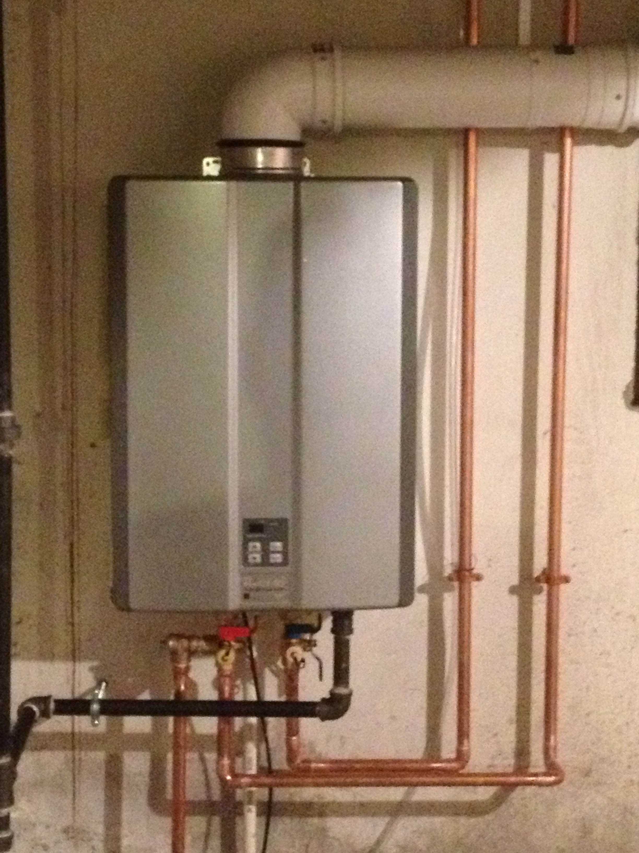 How to vent a hot water heater - New Rinnai Hot Water Tank In Framingham Ma
